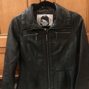Nordstrom Sugar Fly Faux Leather Motto Jacket